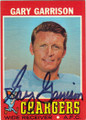 GARY GARRISON SAN DIEGO CHARGERS AUTOGRAPHED VINTAGE FOOTBALL CARD #70815B
