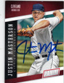 JUSTIN MASTERSON CLEVELAND INDIANS AUTOGRAPHED BASEBALL CARD #70815E