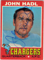 JOHN HADL SAN DIEGO CHARGERS AUTOGRAPHED VINTAGE FOOTBALL CARD #70915B