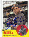 SANTIAGO CASILLA SAN FRANCISCO GIANTS AUTOGRAPHED BASEBALL CARD #70915J