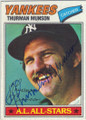 THURMAN MUNSON NEW YORK YANKEES AUTOGRAPHED VINTAGE BASEBALL CARD #71215A