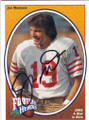 JOE MONTANA SAN FRANCISCO 49ers AUTOGRAPHED FOOTBALL CARD #71215D