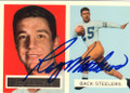RAY MATHEWS PITTSBURGH STEELERS AUTOGRAPHED FOOTBALL CARD #71215F