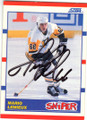 MARIO LEMIEUX PITTSBURGH PENGUINS AUTOGRAPHED HOCKEY CARD #71315J