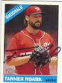 TANNER ROARK WASHINGTON NATIONALS PITCHER AUTOGRAPHED BASEBALL CARD #71315N