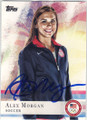 ALEX MORGAN US WOMENS SOCCER AUTOGRAPHED SOCCER CARD #71415A