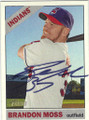 BRANDON MOSS CLEVELAND INDIANS AUTOGRAPHED BASEBALL CARD #71415C