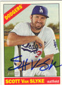 SCOTT Van SLYKE LOS ANGELES DODGERS AUTOGRAPHED BASEBALL CARD #71415H