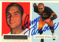 GEORGE TARASOVIC PITTSBURGH STEELERS AUTOGRAPHED FOOTBALL CARD #71415J