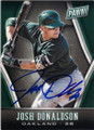 JOSH DONALDSON OAKLAND ATHLETICS AUTOGRAPHED BASEBALL CARD #71415L