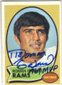 ROMAN GABRIEL LOS ANGELES RAMS AUTOGRAPHED VINTAGE FOOTBALL CARD #71415N