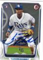 TIM BECKHAM TAMPA BAY RAYS AUTOGRAPHED ROOKIE BASEBALL CARD #71515B