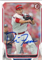 DAVID FREESE LOS ANGELES ANGELS OF ANAHEIM AUTOGRAPHED BASEBALL CARD #71715A