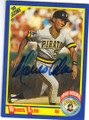 MOISES ALOU PITTSBURGH PIRATES AUTOGRAPHED ROOKIE BASEBALL CARD #71715B