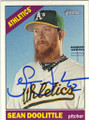 SEAN DOOLITTLE OAKLAND ATHLETICS AUTOGRAPHED BASEBALL CARD #71715D