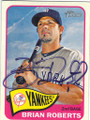 BRIAN ROBERTS NEW YORK YANKEES AUTOGRAPHED BASEBALL CARD #71815C
