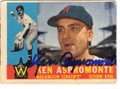 KEN ASPROMONTE WASHINGTON SENATORS AUTOGRAPHED VINTAGE BASEBALL CARD #71815H