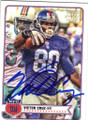 VICTOR CRUZ NEW YORK GIANTS AUTOGRAPHED FOOTBALL CARD #71915J