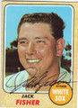 JACK FISHER CHICAGO WHITE SOX AUTOGRAPHED VINTAGE BASEBALL CARD #72015B