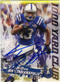 TY HILTON INDIANAPOLIS COLTS AUTOGRAPHED FOOTBALL CARD #72015F