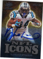 DeANGELO WILLIAMS CAROLINA PANTHERS AUTOGRAPHED & NUMBERED FOOTBALL CARD #72115B