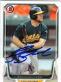 BRANDON MOSS OAKLAND ATHLETICS AUTOGRAPHED BASEBALL CARD #72115D