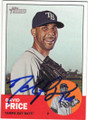 DAVID PRICE TAMPA BAY RAYS AUTOGRAPHED BASEBALL CARD #72215B