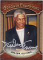 "JULIUS ERVING ""DR J"" AUTOGRAPHED BASKETBALL CARD #72215D"