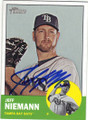 JEFF NIEMANN TAMPA BAY RAYS AUTOGRAPHED BASEBALL CARD #72215H