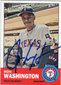RON WASHINGTON TEXAS RANGERS AUTOGRAPHED BASEBALL CARD #72215J