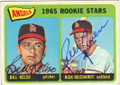 BILL KELSO & RICK REICHARDT LOS ANGELES ANGELS DOUBLE AUTOGRAPHED VINTAGE ROOKIE BASEBALL CARD #72315B