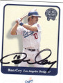 RON CEY LOS ANGELES DODGERS AUTOGRAPHED BASEBALL CARD #72715B