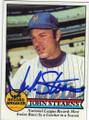 JOHN STEARNS NEW YORK METS AUTOGRAPHED VINTAGE BASEBALL CARD #72715D
