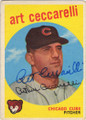 ART CECCARELLI CHICAGO CUBS AUTOGRAPHED VINTAGE BASEBALL CARD #72915B