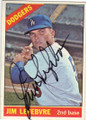JIM LEFEBVRE LOS ANGELES DODGERS AUTOGRAPHED VINTAGE BASEBALL CARD #72915C