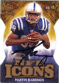 MARVIN HARRISON INDIANAPOLIS COLTS AUTOGRAPHED & NUMBERED FOOTBALL CARD #72915i