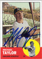 MICHAEL TAYLOR OAKLAND ATHLETICS AUTOGRAPHED ROOKIE BASEBALL CARD #73015E