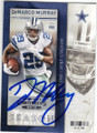 DeMARCO MURRAY DALLAS COWBOYS AUTOGRAPHED FOOTBALL CARD #73115G