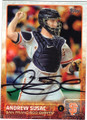 ANDREW SUSAC SAN FRANCISCO GIANTS AUTOGRAPHED BASEBALL CARD #73115i