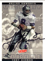 TROY AIKMAN DALLAS COWBOYS AUTOGRAPHED FOOTBALL CARD #73115J