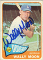 WALLY MOON LOS ANGELES DODGERS AUTOGRAPHED VINTAGE BASEBALL CARD #80315A