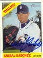 ANIBAL SANCHEZ DETROIT TIGERS AUTOGRAPHED BASEBALL CARD #80315C