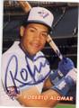 ROBERTO ALOMAR TORONTO BLUE JAYS AUTOGRAPHED BASEBALL CARD #80315G