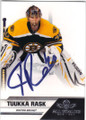 TUUKKA RASK BOSTON BRUINS AUTOGRAPHED HOCKEY CARD #80315H