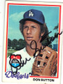 DON SUTTON LOS ANGELES DODGERS AUTOGRAPHED VINTAGE BASEBALL CARD #81215A