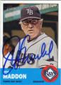 JOE MADDON TAMPA BAY RAYS AUTOGRAPHED BASEBALL CARD #81215D