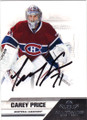 CAREY PRICE MONTREAL CANADIENS AUTOGRAPHED HOCKEY CARD #81215E