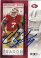 COLIN KAEPERNICK SAN FRANCISCO 49ers AUTOGRAPHED FOOTBALL CARD #81215F