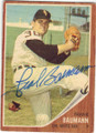 FRANK BAUMANN CHICAGO WHITE SOX AUTOGRAPHED VINTAGE BASEBALL CARD #81415F