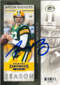 AARON RODGERS GREEN BAY PACKERS AUTOGRAPHED FOOTBALL CARD #81415G